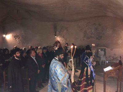 Ακολουθία των Α' Χαιρετισμών στην αρχαία Μονή της Αγίας Νάπας