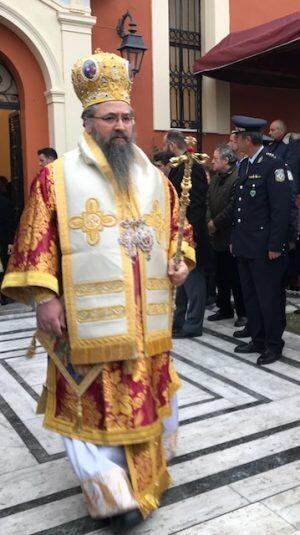 Ο Λευκάδος Θεόφιλος στην Ιερά Πανήγυρη του Αγίου Χαραλάμπους, Πολιούχου του Πύργου Ηλείας