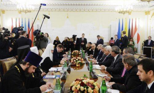 Συνάντηση Πατριάρχη Μόσχας με τον Πρόεδρο της Παλαιστίνης