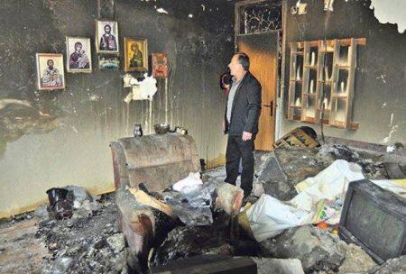 Μόνο οι Άγιες εικόνες διασώθηκαν από φωτιά στο Βελιγράδι-Συγκλονιστική φωτογραφία