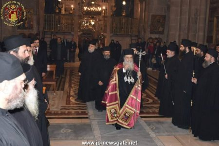 Οι Α΄ Χαιρετισμοί στο Πατριαρχείο Ιεροσολύμων