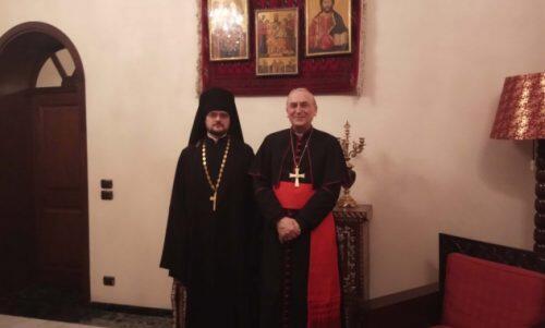 Συνάντηση του Ιερομονάχου Στεφάνου Ηγκούμνοφ με τον Αποστολικό Νούντσιο στη Συρία