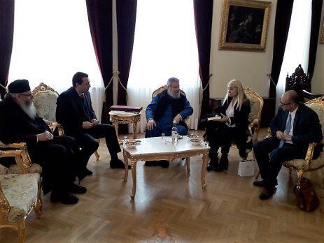 Στον Αρχιεπίσκοπο Κύπρου η Προέδρος της Πανελλήνιας Ομοσπονδίας Σωματείων Ανατολικής Ρωμυλίας