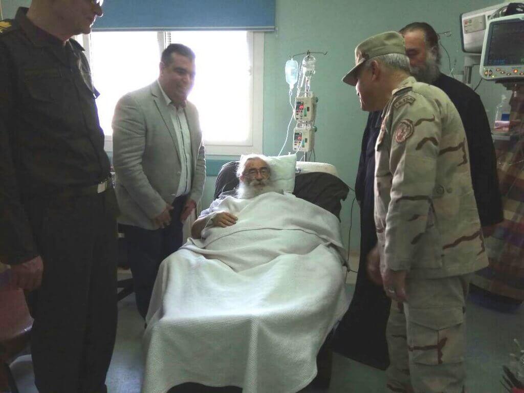 Τον Αρχιεπίσκοπο Σινά επισκέφθηκε στο νοσοκομείο ο ο Υπουργός Άμυνας της Αιγύπτου
