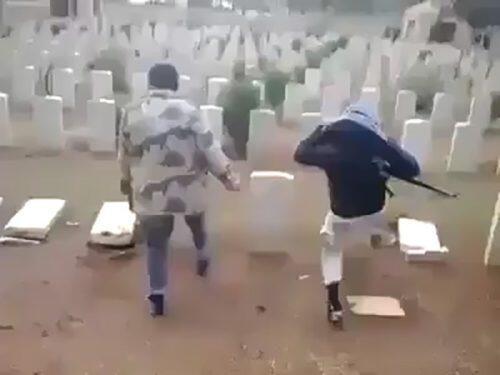 Απόλυτη φρίκη: Καταστρέφουν χριστιανικούς τάφους στο Αφρίν