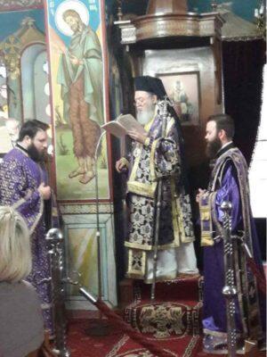 Προηγιασμένη Θεία Λειτουργία στον Ναό Ευαγγελισμού της Θεοτόκου Μύτικα Χαλκίδος