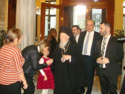 Ο Οικουμενικός Πατριάρχης στην παρουσίαση του βιβλίου «Εξομολόγηση για παιδιά»