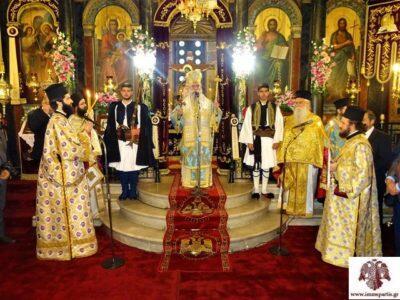 Σπάρτη: Πανηγύρισε με εκκλησιαστική μεγαλοπρέπεια ο Μητροπολιτικός ναός Ευαγγελιστρίας