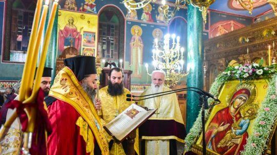 Οι Β' Χαιρετισμοί στον Ιερό ναό της Αγ. Κυράννης - Όσσης