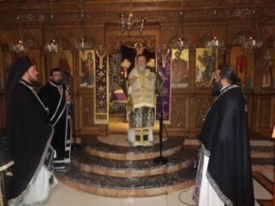Προηγιασμένη Θεία Λειτουργία στην Μονή Παναγίας «Πάντων Χαρά» Καλεντζίου