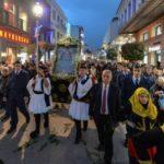 Καλαμάτα: Πλήθος πιστών υποδέχθηκε την Παναγία Πεταλιδιώτισσα