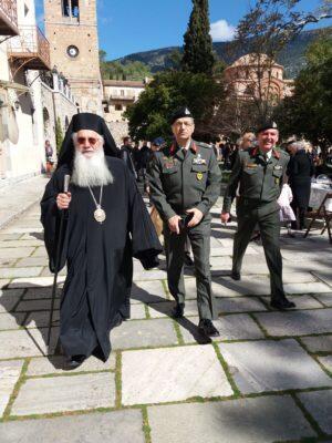 Ο Θηβών Γεώργιος στη Μονή Οσίου Λουκά για το τεσσαρακονθήμερο Μνημόσυνο του Ταξίαρχου Ανδρέα Σίμου