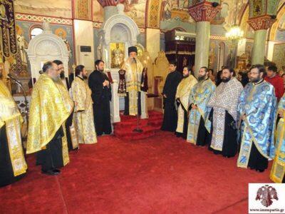 Μεθεόρτιος Εσπερινός για τον Ευαγγελισμό της Θεοτόκου στον Ι.Ν Οσίου Νίκωνος