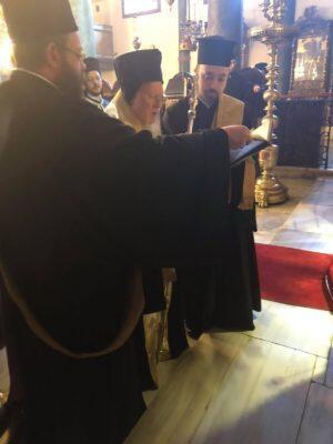 Τρισάγιο από Οικουμενικό Πατριάρχη για τον Μακαριστό Ιεροσολύμων Βενέδικτο