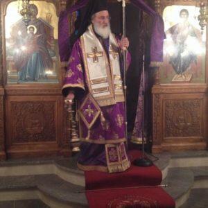 Αρχιερατική Προηγιασμένη Θεία Λειτουργία στα Καλύβια Μονοφατσίου