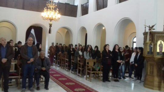Αρκαλοχώρι: Αρχιερατική Προηγιασμένη και διανομή Καινής Διαθήκης στους μαθητές