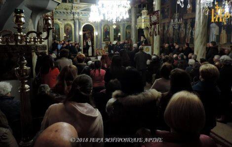 Άρτα: Η Δ΄ Στάση των Χαιρετισμών στην Ενορία Αγίου Γεωργίου