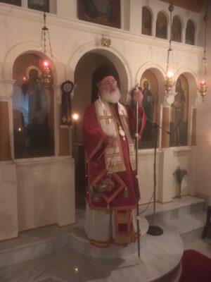 Αρχιερατική Προηγιασμένη Θεία Λειτουργία στο Γάσι