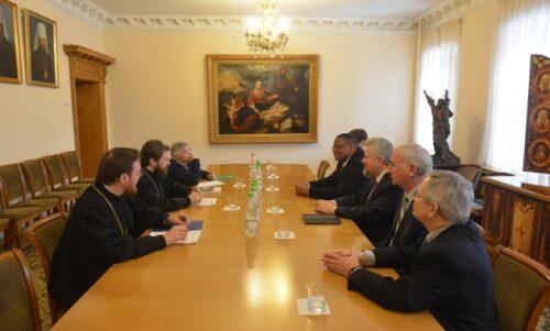 Συνάντηση του Μητροπολίτη Βολοκολάμσκ με ηγεσία των Βαπτιστών