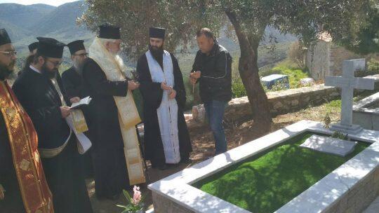 Συγκινημένος ο Θηβών Γεώργιος στο μνημόσυνο των π. Κυριακού Κόγιου και Λουκά Ανδρίτσου