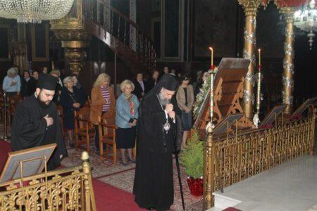 Καρδίτσα: Η ακολουθία του Ε΄ Κατανυκτικού Εσπερινού στον Ναό Αγίων Κωνσταντίνου και Ελένης