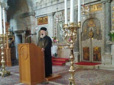 Παναγία Εκατονταπυλιανή: Ο Εσπερινός της Αποδόσεως της Θεομητορικής Εορτής του Ευαγγελισμού της Θεοτόκου