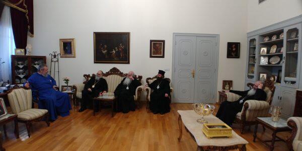 Αποχαιρετιστήρια συνάντηση Αντιοχείας Ιωάννη με Κύπρου Χρυσόστομο
