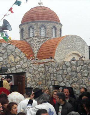 Κοσμοπλημμύρα στην Κάλυμνο στην Εορτή του Αγίου Σάββα