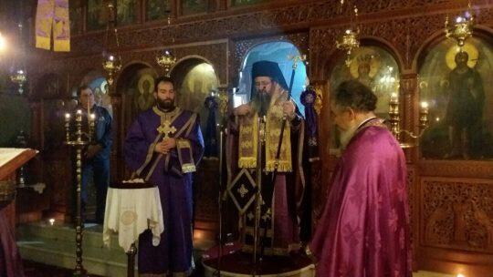 Λευκάδα: Αρχιερατική Θεία Λειτουργία των Προηγιασμένων Τιμίων Δώρων στον Ναό Αγίου Νικολάου Χαραδιατίκων
