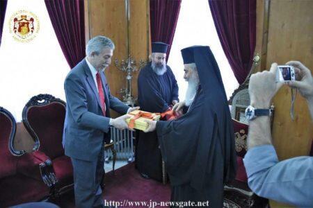 Η επίσκεψη του Σταύρου Κοντονή στο Πατριαρχείο Ιεροσολύμων