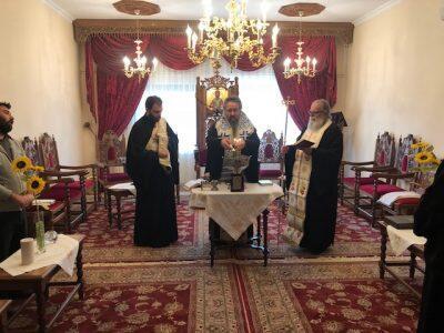 Ο πρωτομηνιάτικος Αγιασμός στο Επισκοπείο της Μητρόπολης Λευκάδος