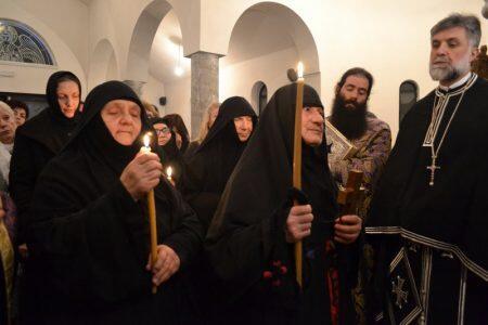 Κουρά Μοναχής Αικατερίνης στην Μονή Παναγίας Μυρτιδιωτίσσης Πάλιουρα