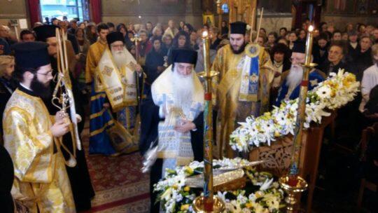 Βόλος: Πλήθος πιστών υποδέχθηκαν το Τίμιο Ξύλο