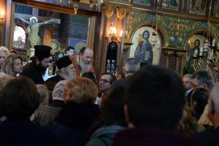 Πλήθος πιστών στα ονομαστήρια του Επισκόπου Κερνίτσης Χρυσάνθου