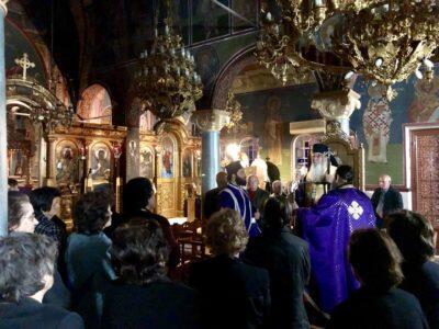 Προηγιασμένη Θεία Λειτουργία στον Ι. Ν. Αγ. Αθανασίου Λουκισίων
