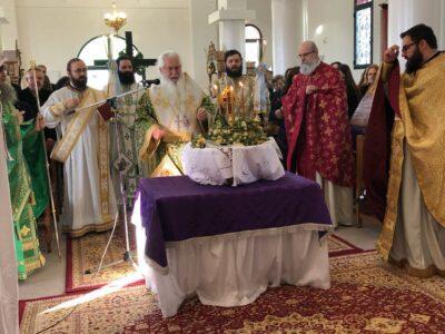 Κυριακή της Σταυροπροσκυνήσεως στον Ναό Υψώσεως Τιμίου Σταυρού Πέρα Χωρίου Λεβαδείας