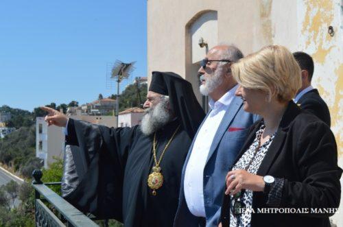 Επίσκεψη του Υπουργού Ναυτιλίας Παναγιώτη Κουρουμπλή στη Μητρόπολη Μάνης