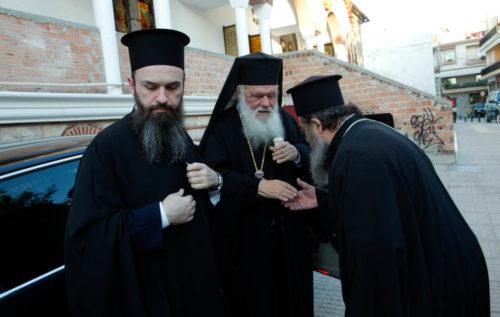 Ο Αρχιεπίσκοπος στον Ι. Ν. Αγίου Δημητρίου για την Ακολουθία του Νιπτήρος