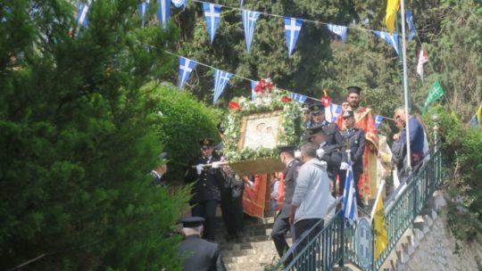 Αίγιο: Πολυαρχιερατική Θεία Λειτουργία στην Παναγία Τρυπητή