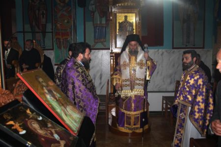 Η ακολουθία των Προηγιασμένων Τιμίων Δώρων στην Μονή Παναγίας «Φανερωμένης» Καλλιφωνίου