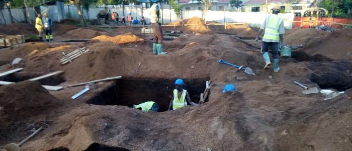 Ξεκίνησαν οι εργασίες ανοικοδομήσεως του Πνευματικού - Διοικητικού Κέντρου της Μητροπόλεως Μουάνζα