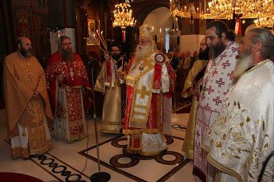 Ο Κιλκισίου Εμμανουήλ στον Ιερό Ναό Αγίου Γεωργίου Γιαννιτσών