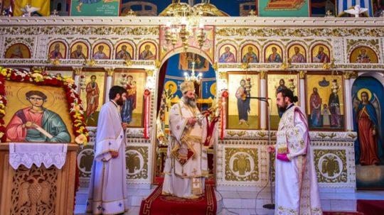 Αρχιερατική Θεία Λειτουργία στον Ι.Ν. Αποστόλου Θωμά-Βόλβης