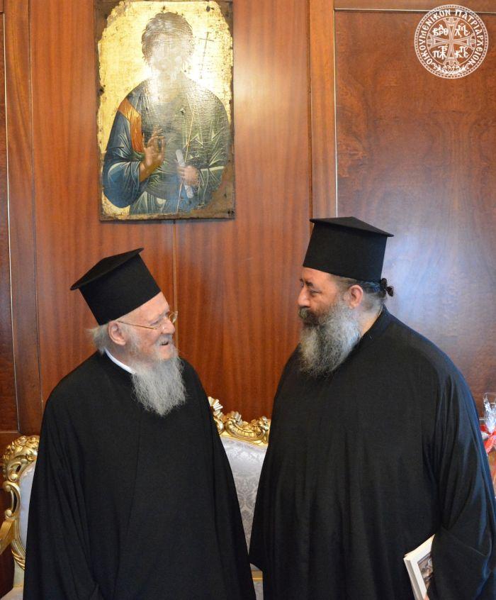Στον Βαρθολομαίο 5 Μητροπολίτες της Εκκλησίας της Ελλάδος
