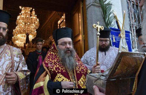 Χίος: Κοσμοπλημμύρα στη σημερινή υποδοχή του λειψάνου του Αγίου Βασιλείου