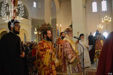 Μετέωρα: Αρχιερατική Θεία Λειτουργία στον Πανηγυρίζοντα Ι.Ν.Αγίων Ραφαήλ, Νικολάου και Ειρήνης
