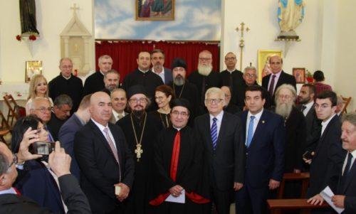 Ευλογία καμπάνας - δώρου του Πατριάρχη Κυρίλλου στην Μαρωνιτική Εκκλησία