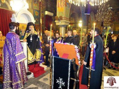 Η ακολουθία του Νυμφίου στον Ι.Ν Αγίου Σπυρίδωνος Σπάρτης