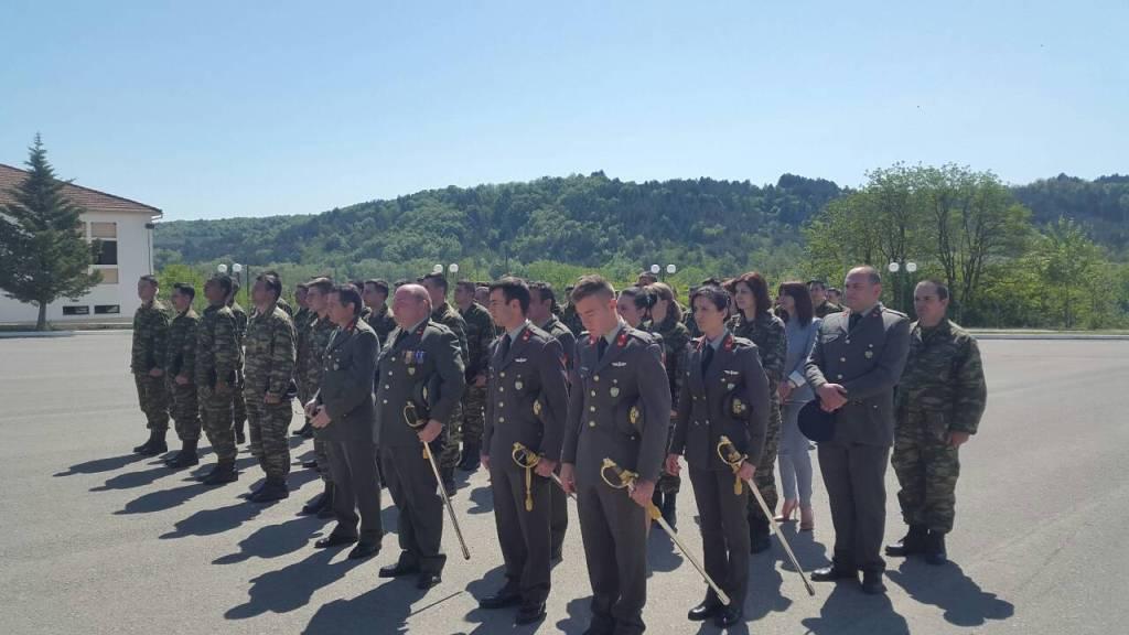 Τη Δευτέρα 23 Απριλίου 2018, ημέρα μνήμης του προστάτη Αγίου του Στρατού Ξηράς, του Αγίου Μεγαλομάρτυρος Γεωργίου του Τροπαιοφόρου, ο Σεβασμιώτατος Μητροπολίτης Γρεβενών κ. Δαβίδ, τέλεσε δοξολογία στο Στρατόπεδο των Γρεβενών, παρουσία των στρατιωτικών, αστυνομικών, δημοτικών και περιφερειακών αρχών της πόλεως.
