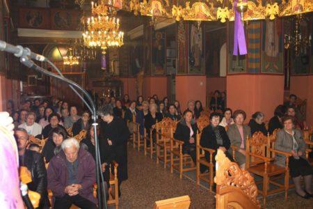 Η ακολουθία του Νυμφίου (Όρθρος Μ. Τρίτης) στον Ναό Αγίας Παρασκευής Λεονταρίου